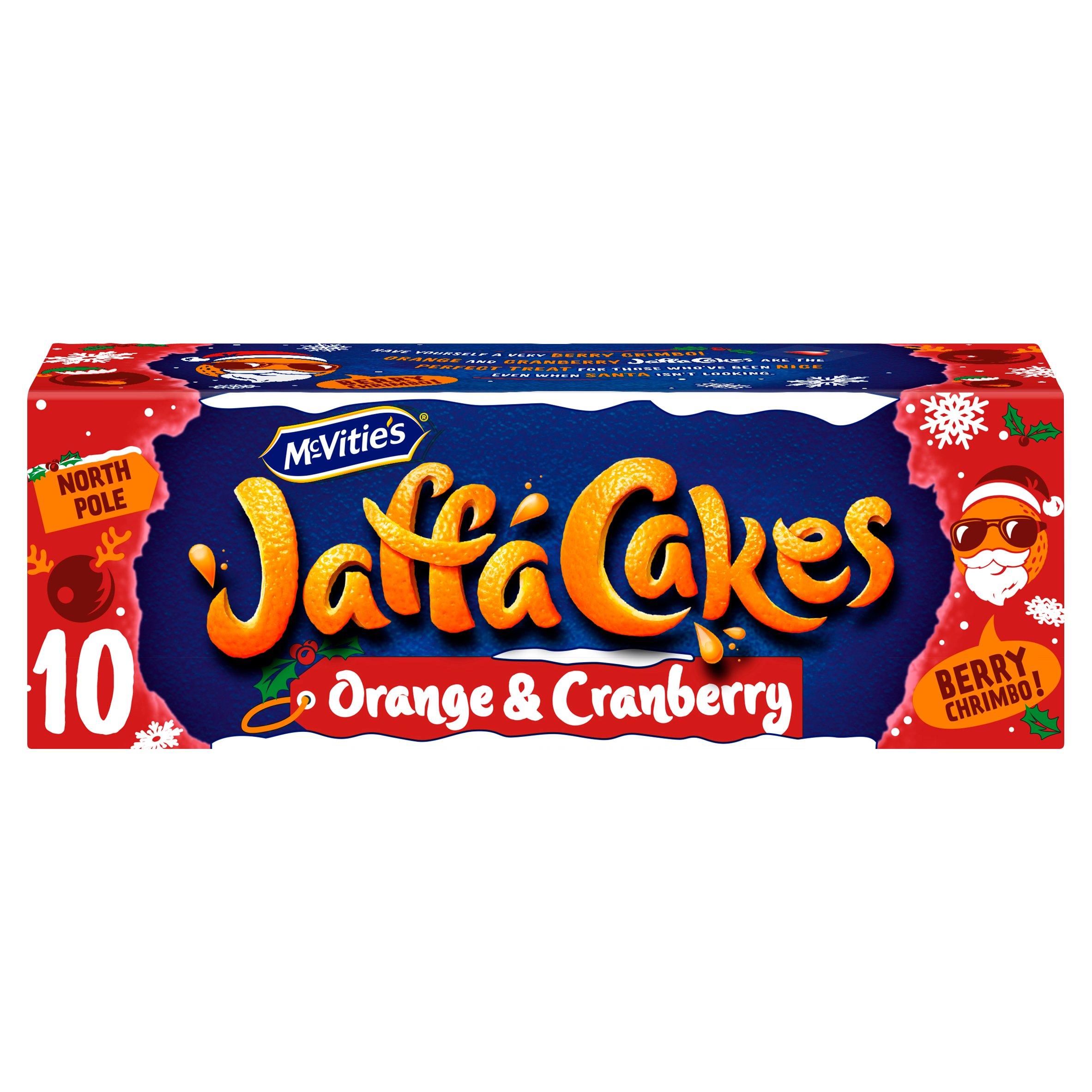 Mcvities Jaffa Cakes Orange & Cranberry Flavour 10 Pack
