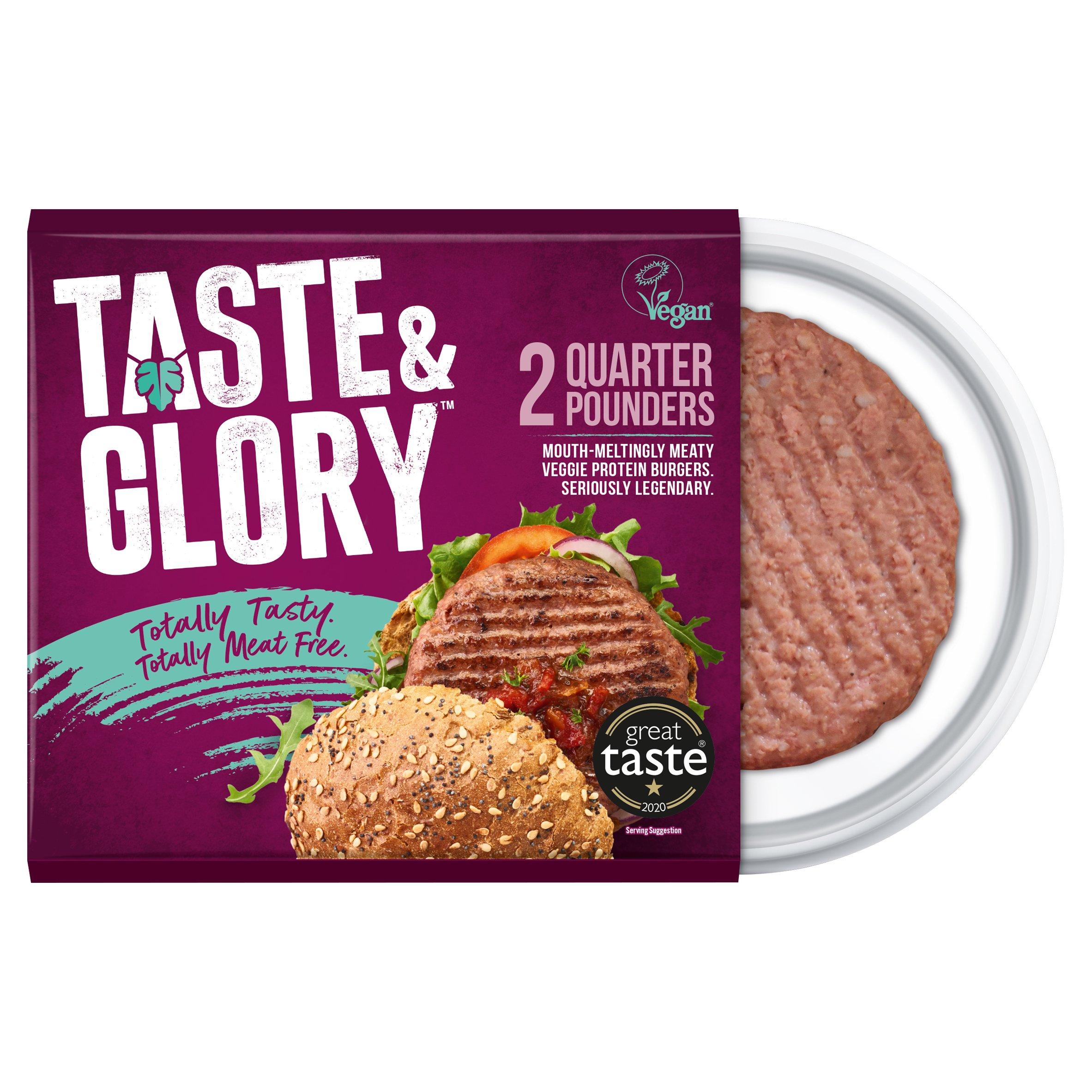 Taste & Glory Vegan 2 Quarter Pounders 227G