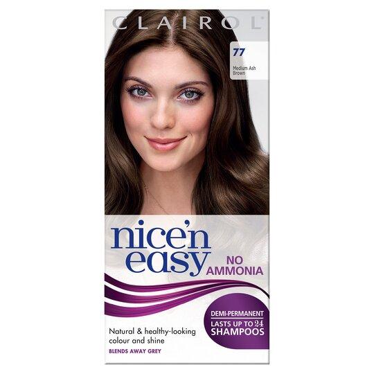 Nice'n Easy No Ammonia Medium Ash Brown 77 Hair Dye