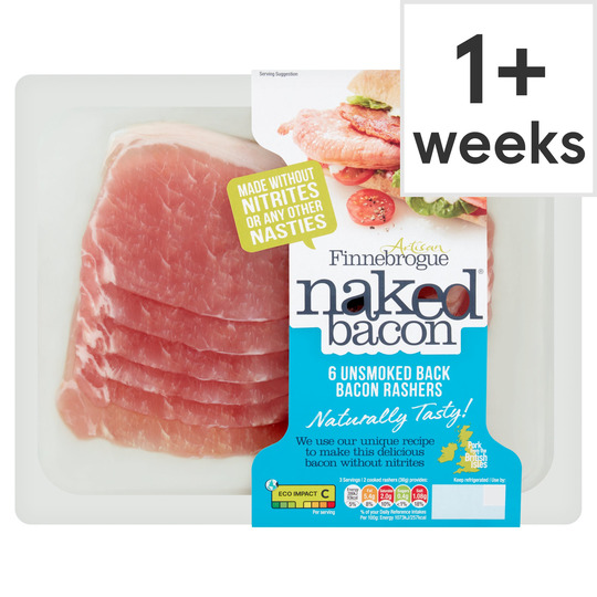 Finne Brogue 6 Unsmoked Naked Back Bacon 200G