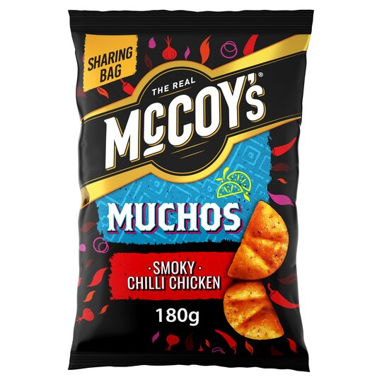 image 1 of Mccoy's Muchos Smokey Chilli Chicken Tortilla 180G
