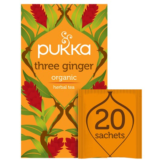 Pukka Organic 3 Ginger 20 Tea Bags 36G