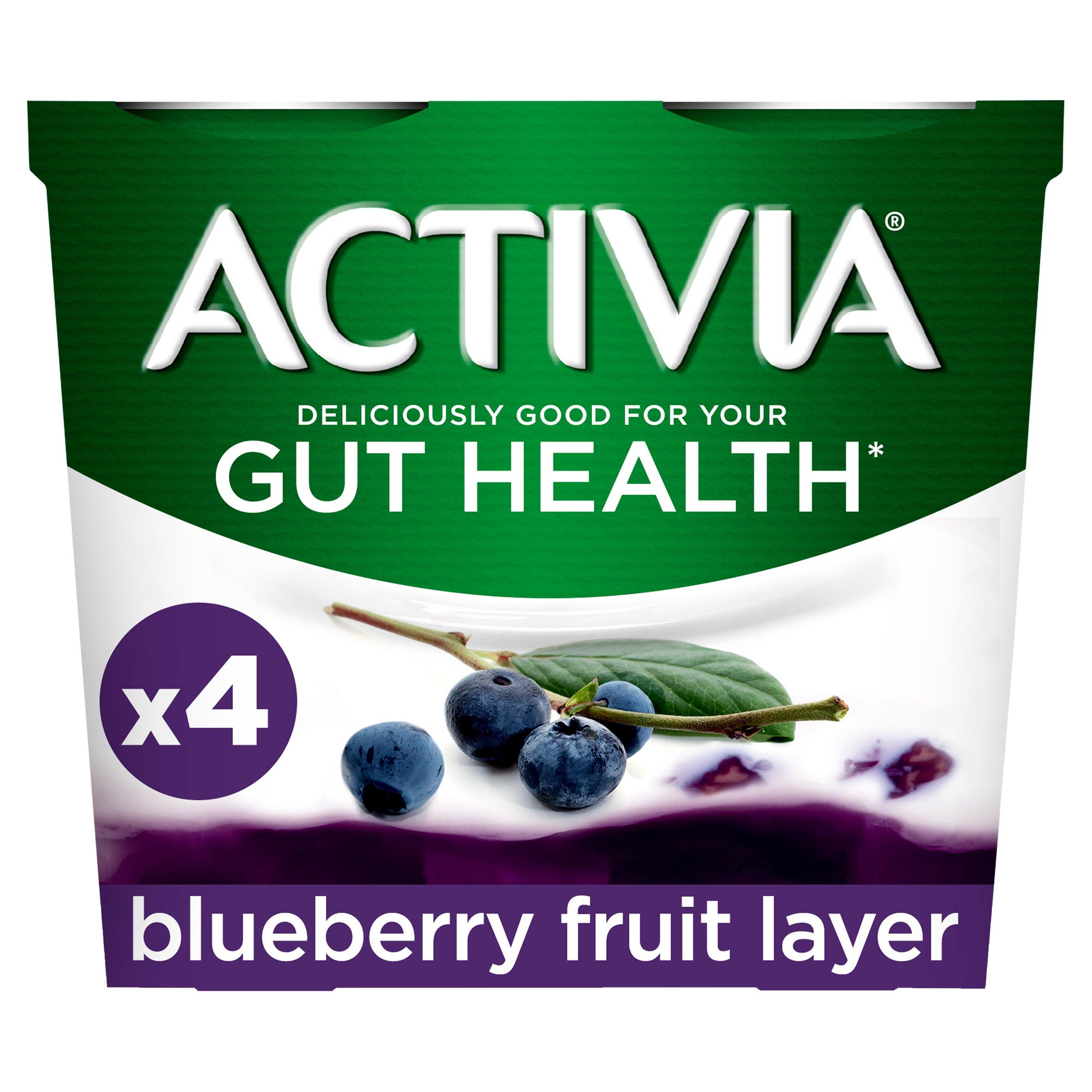 Activia Fusions Blueberry Yogurt 4X120g