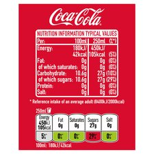 Coca Cola Classic 250ml Tesco Groceries