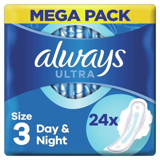 image 1 of Always Ultra Night Time Size 3 Sanitary Towels With Wings 24 Pack