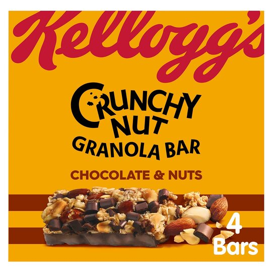 Kellogg's Crunchy Nut Bar Chocolate & Nuts 4X32g
