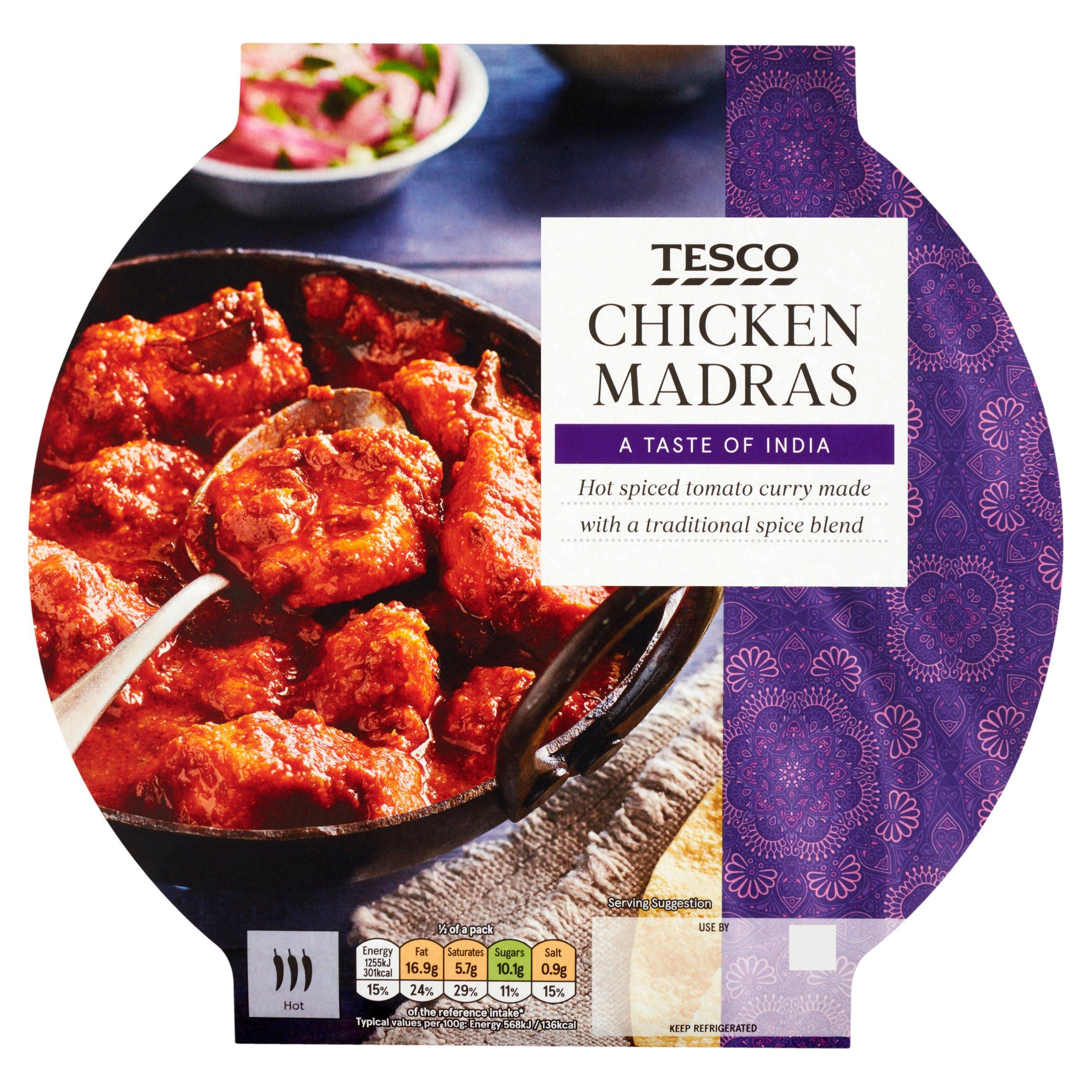Tesco Indian Chicken Madras 460G