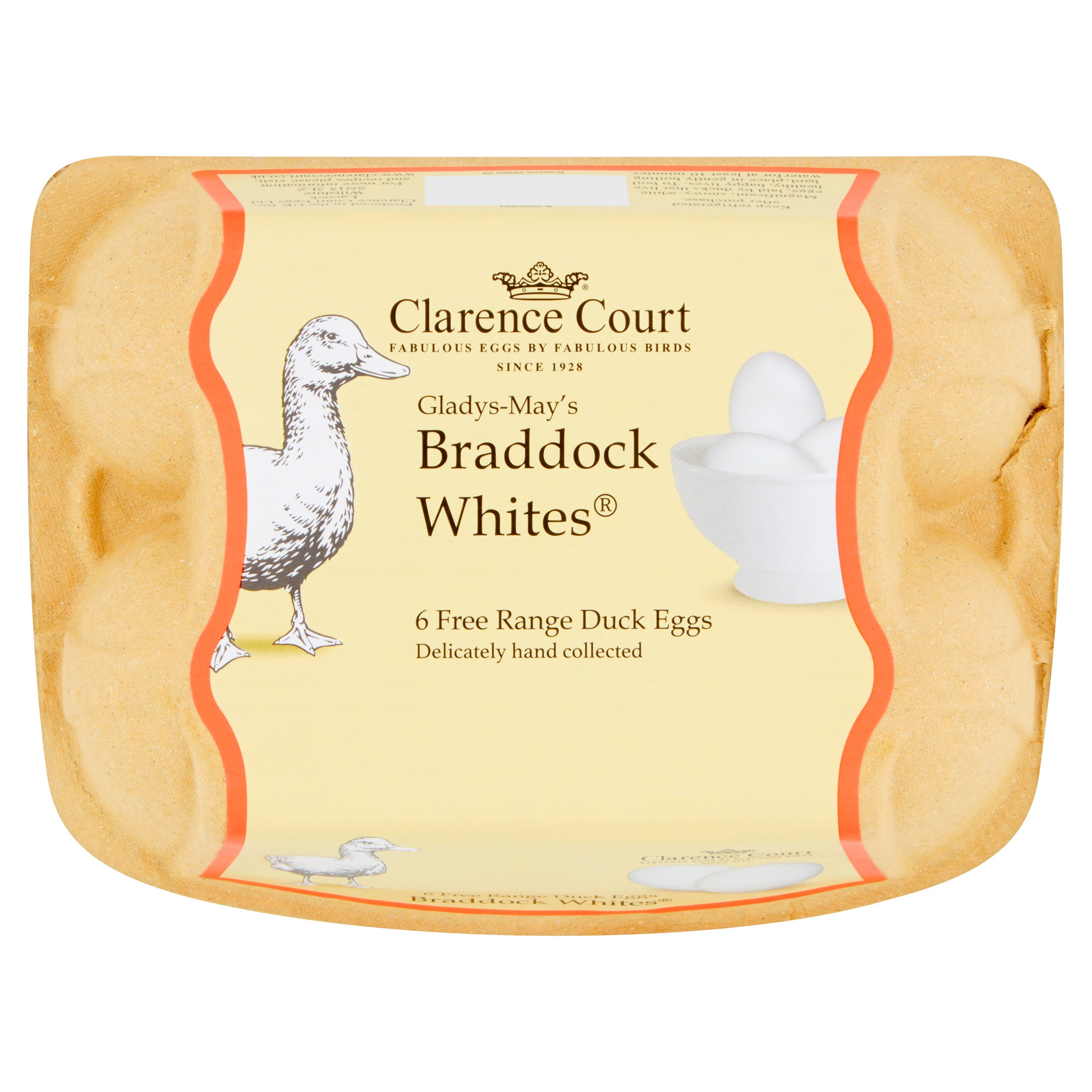 Clarence Court Braddock White Duck Free Range Eggs 6 Pack