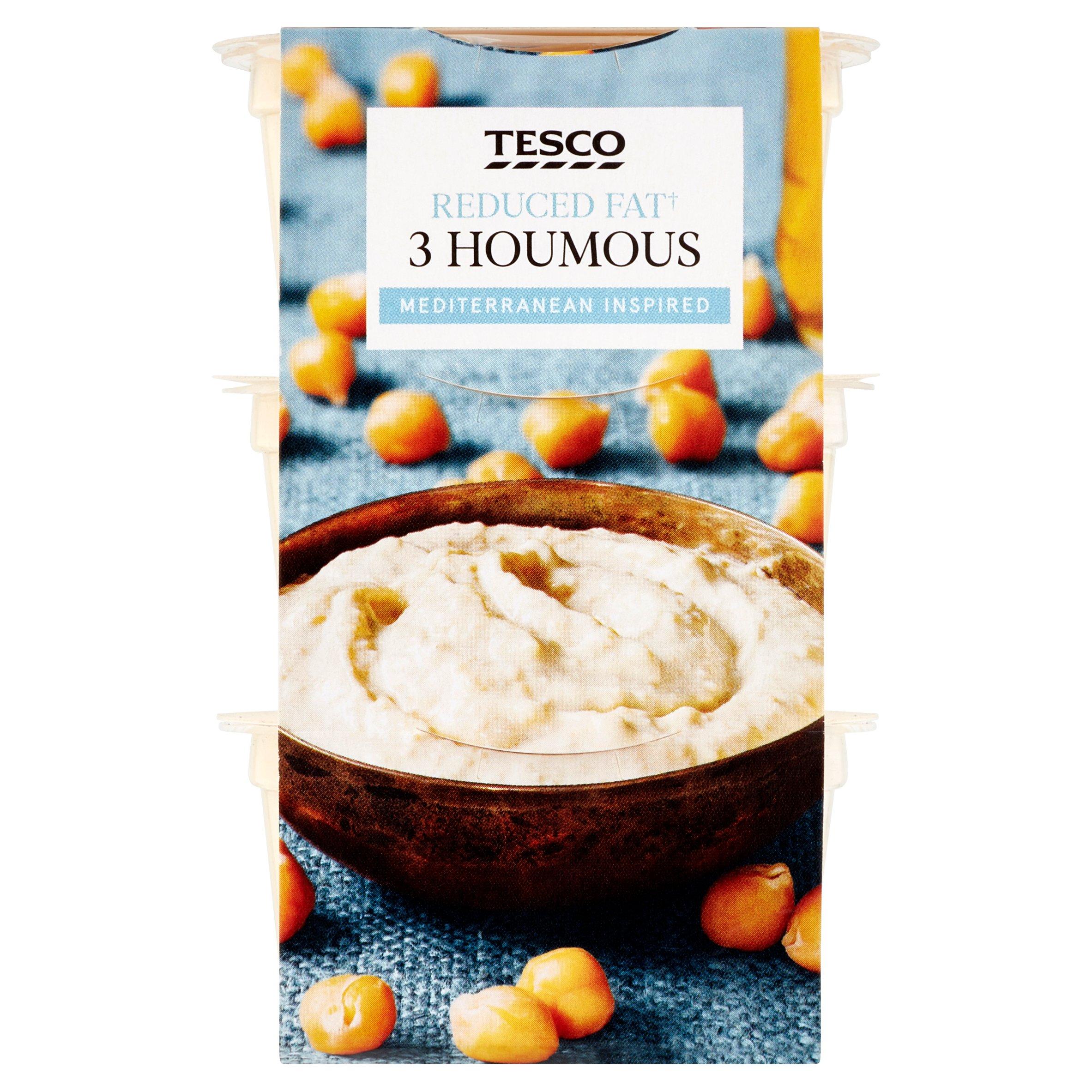 Tesco Reduced Fat Houmous Stacker 210G