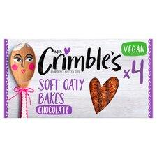 image 1 of Mrs Crimble's 4 Soft Oaty Bakes With Chocolate 160G