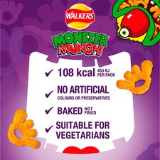 image 2 of Walkers Monster Munch Variety Snacks 12X25g