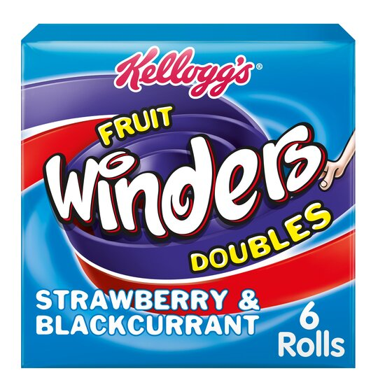 Kellogg's Duo Fruit Winders Strawberry & Blackcurrant 6 Pack