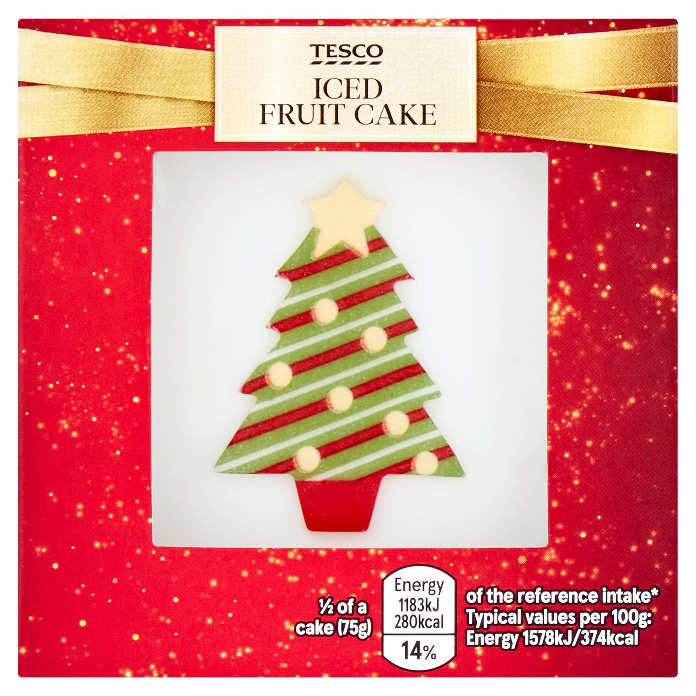 Tesco Iced Fruit Cake 150G