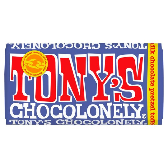 T's/Choclnly Dark Milk Chocolate Pretzel Toffee 42% 180G