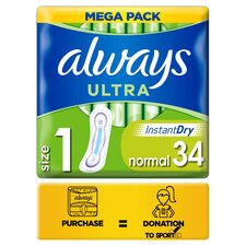 image 1 of Always Ultra Size 1 Sanitary Towels 34Pack