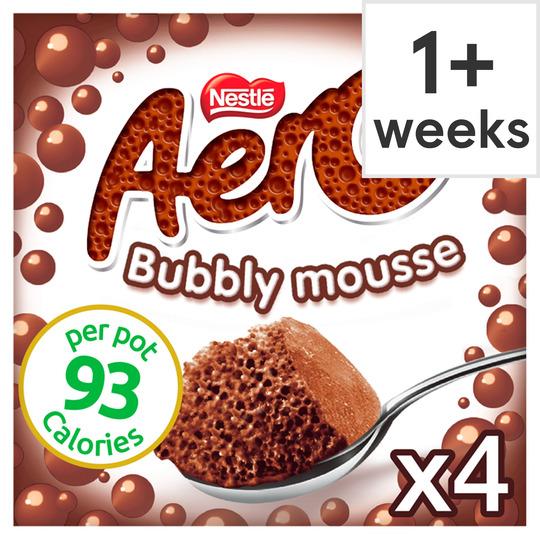 Nestle Aero Chocolate Mousse 4 Pack 236G