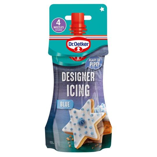 Dr Oetker Designer Icing Pouch Blue 140G