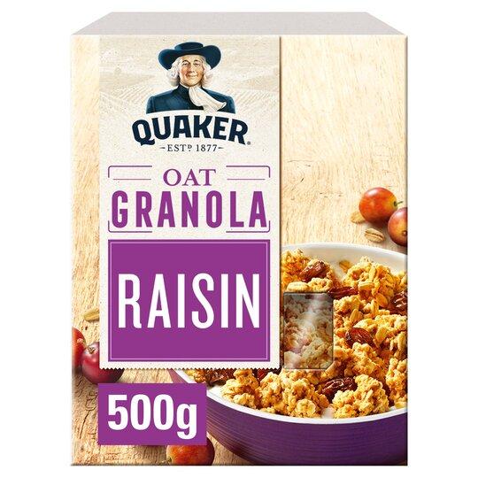 Quaker Oat Granola Raisin 500G