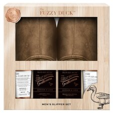 image 1 of Baylis & Harding Fuzzy Duck Mens Slipper Gift Set