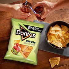 image 3 of Doritos Dippers Hint Of Lime Tortilla Chips 270G