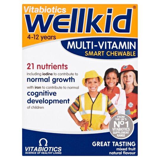 Wellkid Multi Vitamins Mixture Fruit Chewable 30S
