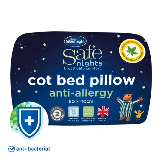 Silent Night Anti Allergy Cotbed Pillow