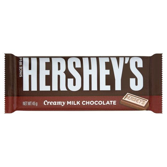 Hersheys Creamy Milk Chocolate Bar 45G
