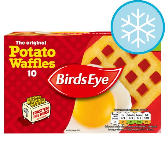 Birds Eye 10 Potato Waffles 567G