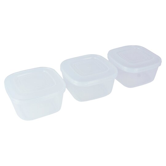 Tesco Basics Foodsavers 3 Pack 600ml Tesco Groceries