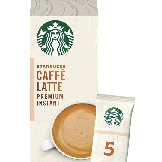 Starbucks Caffe Latte Premium Instant Sachets 5 X 14g Tesco Groceries