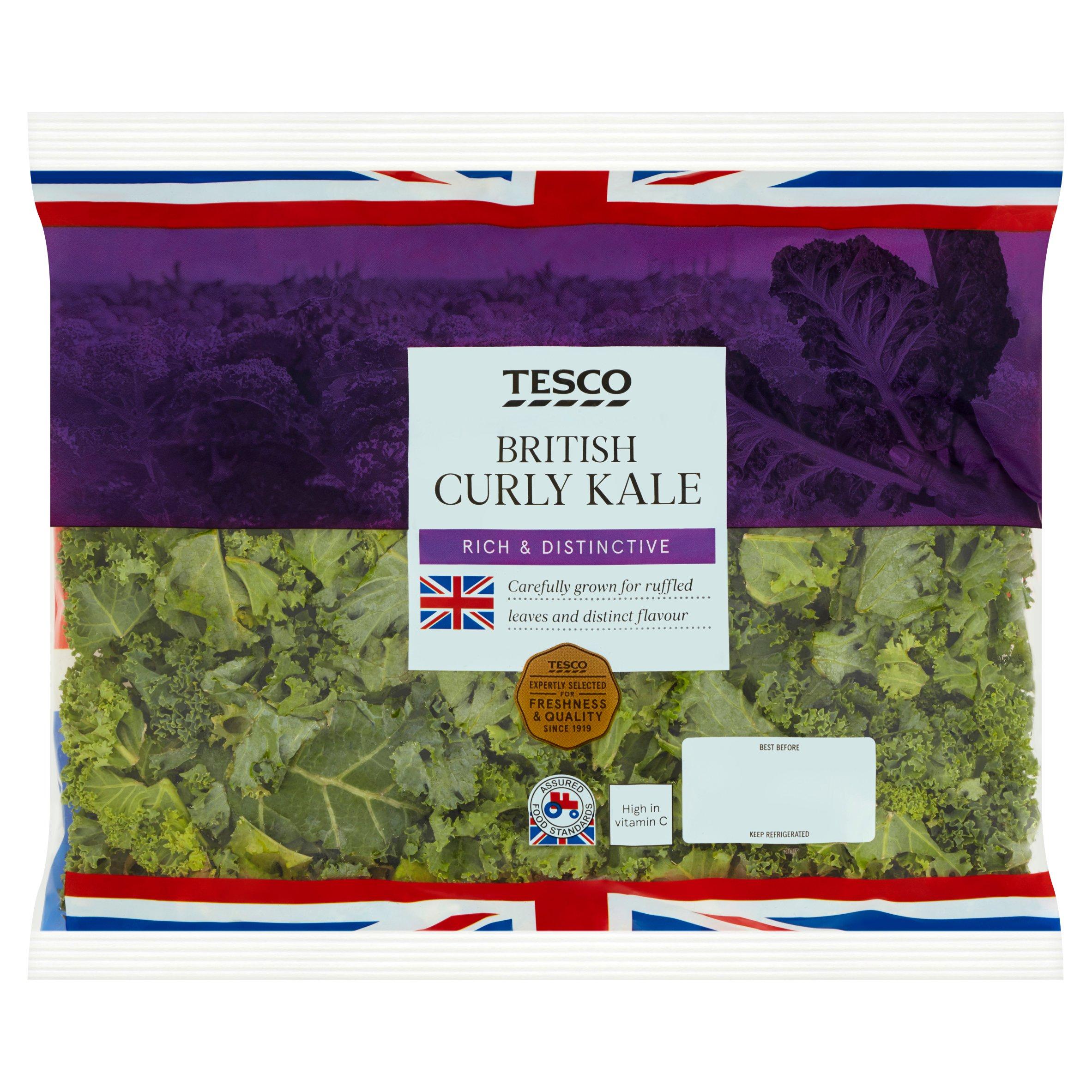 Tesco Curly Kale 180G