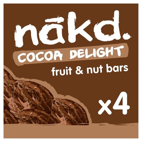 Nakd Cocoa Delight Bars 4 Pack 140G