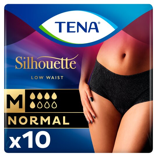 Tena Silhouette Normal Black Pants Medium 10 Pack