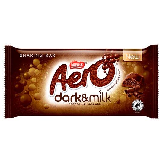 Aero Dark & Milk Chocolate Sharing Bar 90G