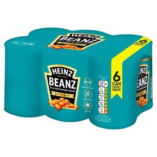 Heinz Baked Beans In Tomato Sauce 6 X 415G