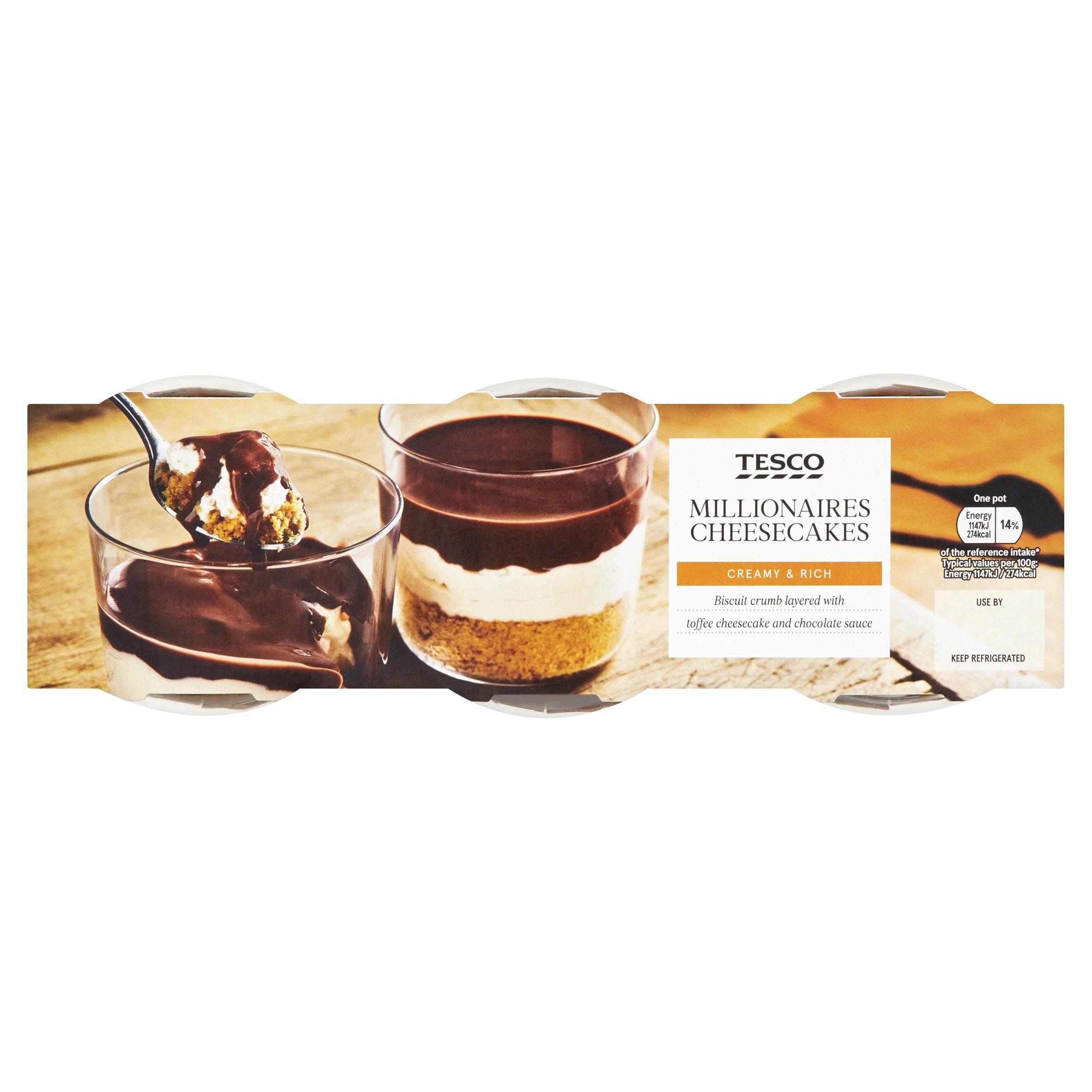 Tesco Millionaires Cheesecake 3 X 100G