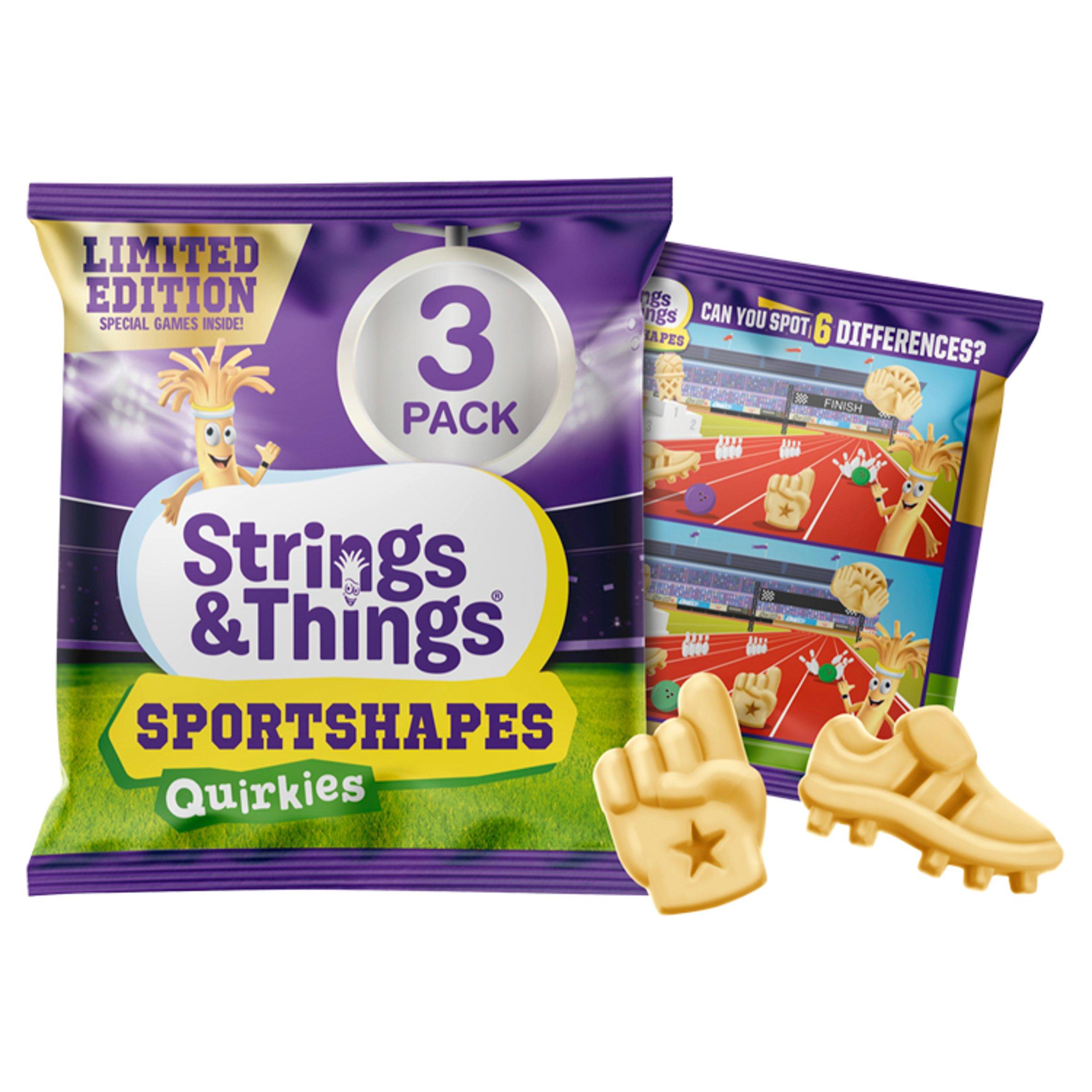 Strings & Things Cheese Shapes Quirkies 3X22.5G