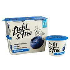 image 2 of Danone Light & Free Blueberry Yogurt 4 X 115G
