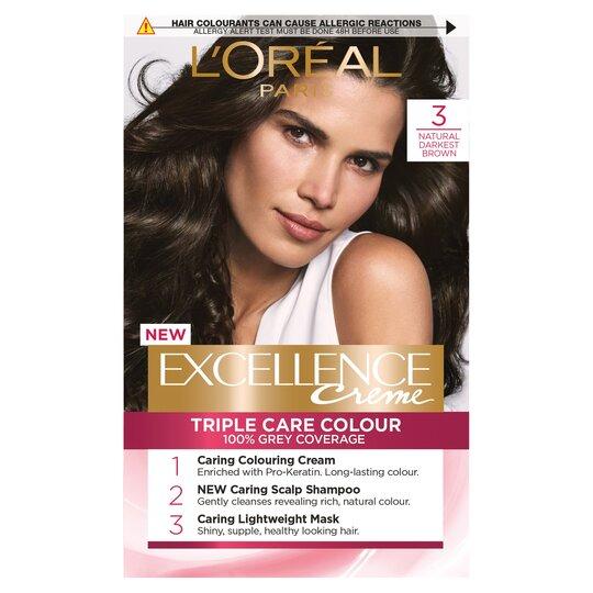 image 1 of L'oreal Paris Excellence 3 Darkest Brown