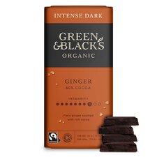 image 2 of Green & Blacks Organic Ginger Chocolate 90G