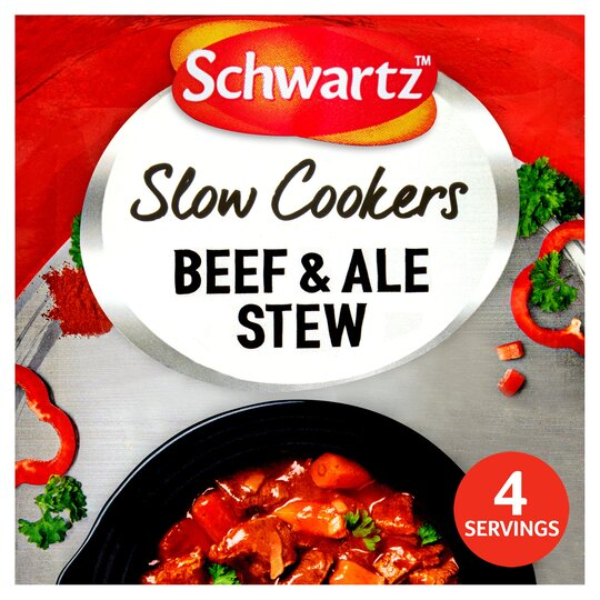 Schwartz Slow Cooker Beef Ale Stew 43g Tesco Groceries