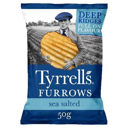 Tyrrells Furrows Sea Salted Crisp 50G