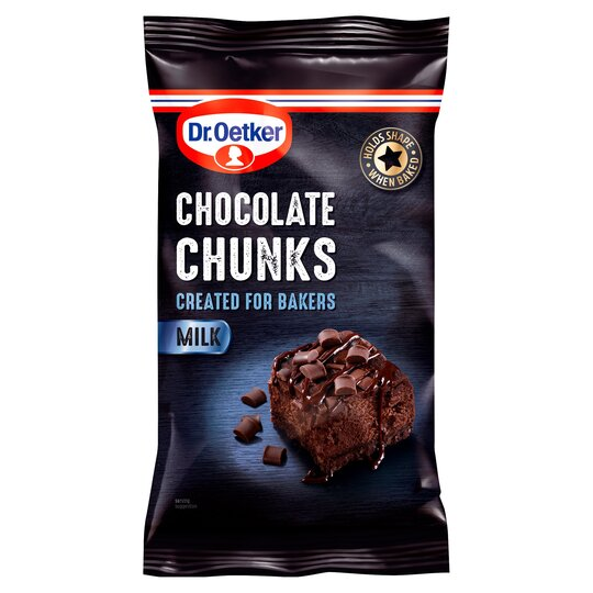 Dr Oetker Milk Chocolate Chunks 100G