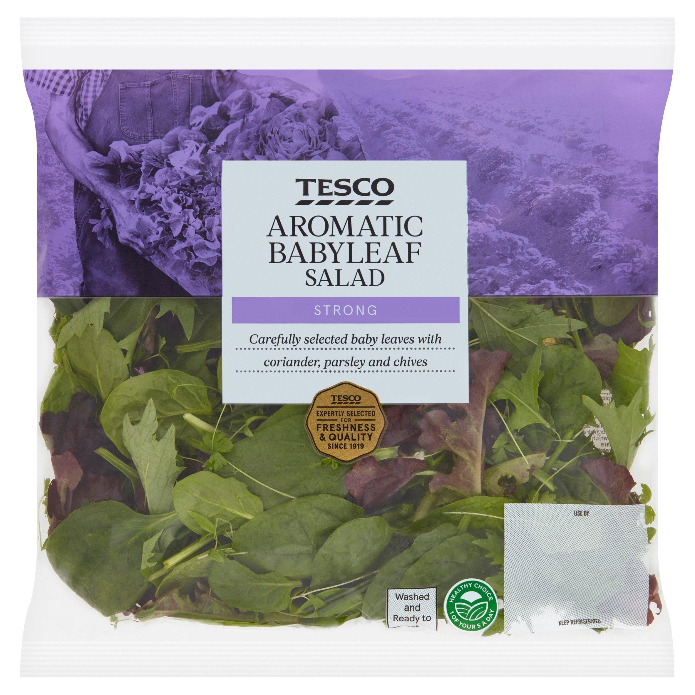 Tesco Aromatic Babyleaf Salad 90G
