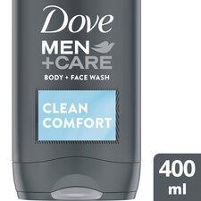 image 1 of Dove Men Clean Comfort Body & Face Wash 400Ml