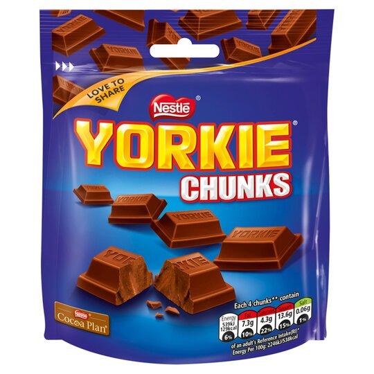 Nestle Yorkie Milk Chunks 100G