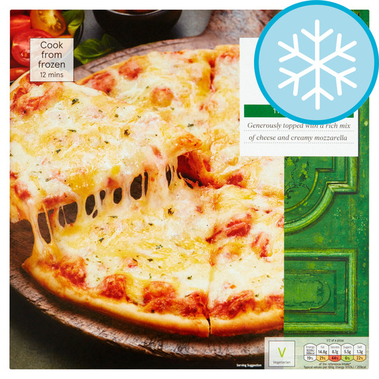 Best Frozen Pizza 2020.Tesco Stonebaked Thin Four Cheese Pizza 330g Price Marked