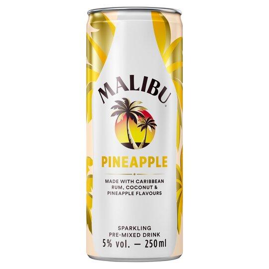 Malibu Coconut Rum & Pineapple 250Ml