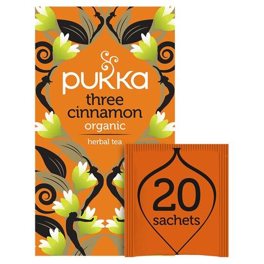 Pukka Organic Three Cinnamon 20 Tea Bags 40G