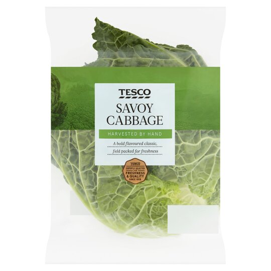 Tesco Savoy Cabbage Tesco Groceries